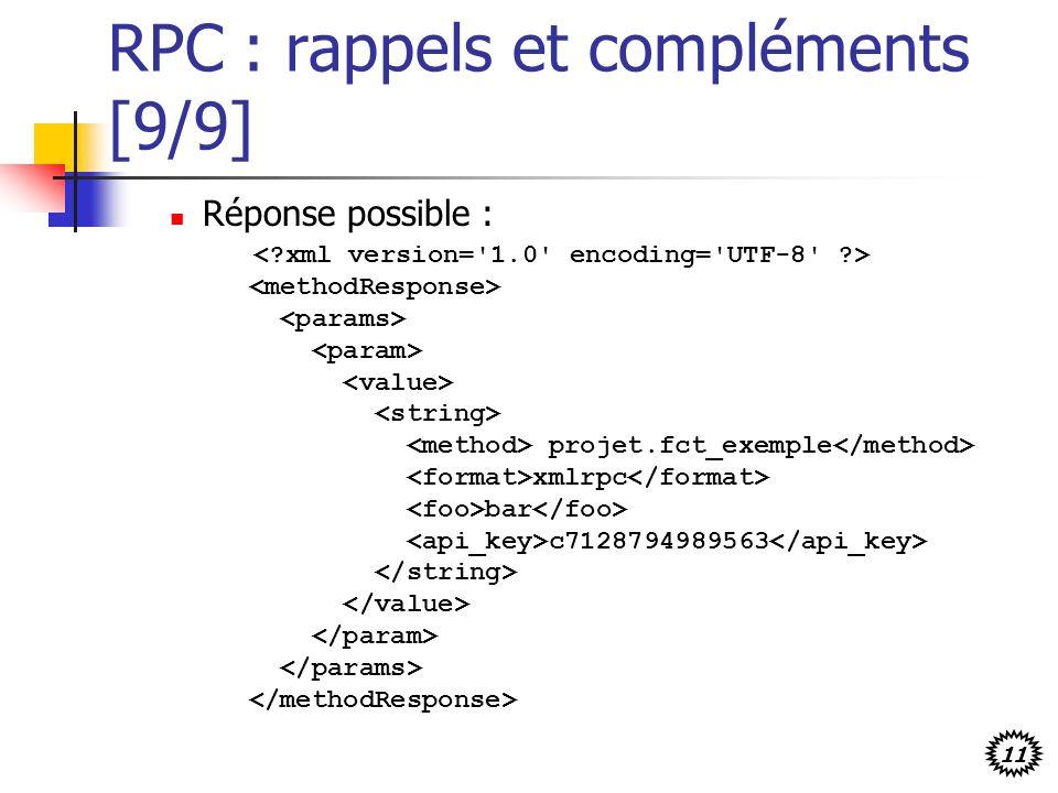 RPC : rappels et compléments [9/9]